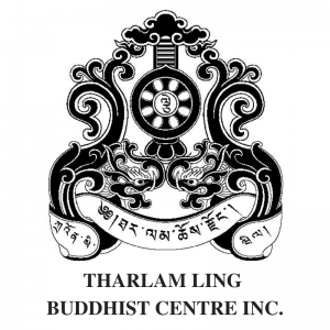 Tharlam Ling Buddhist Centre Townsville logo 800 x 800 stacked 1 300x300